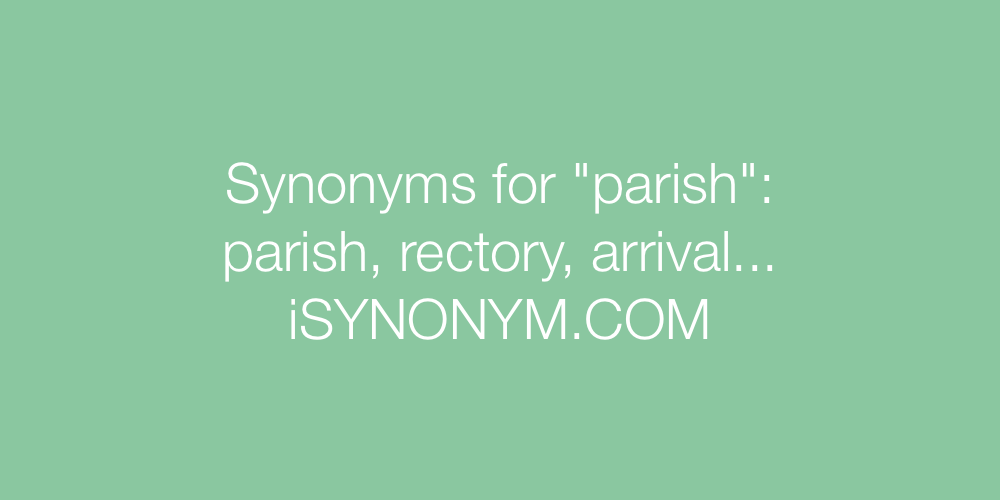 Synonyms parish