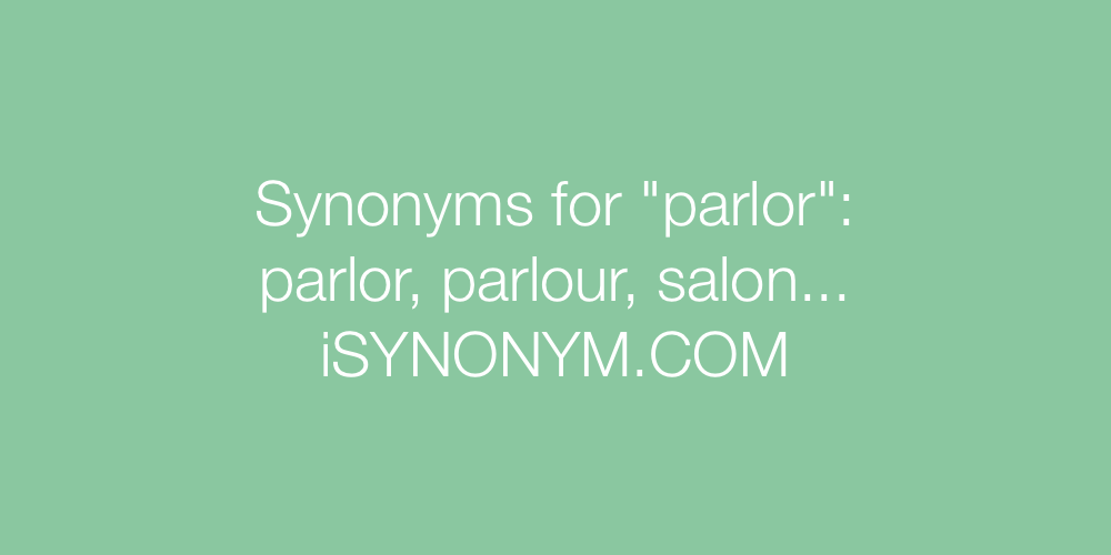 Synonyms parlor