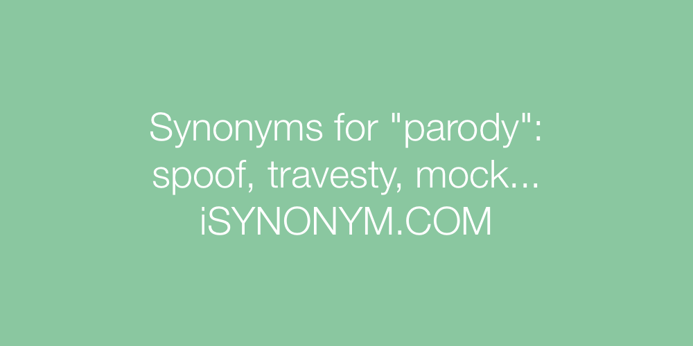 Synonyms parody