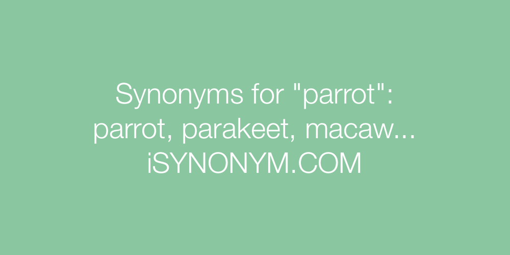 Synonyms parrot