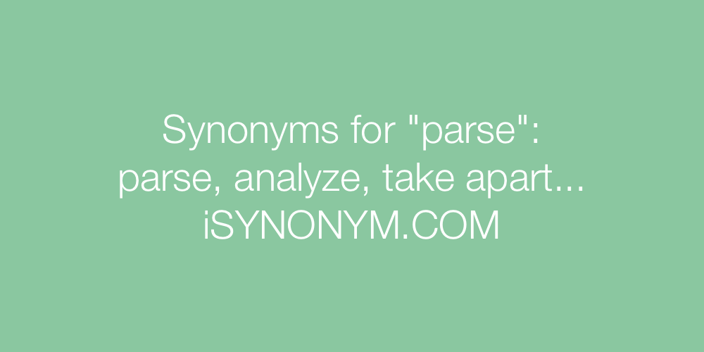 Synonyms parse