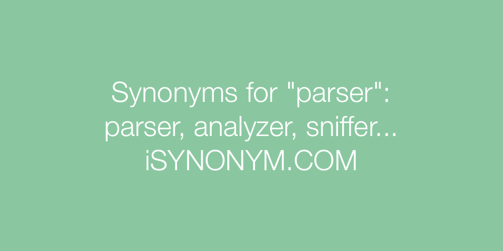 Synonyms parser