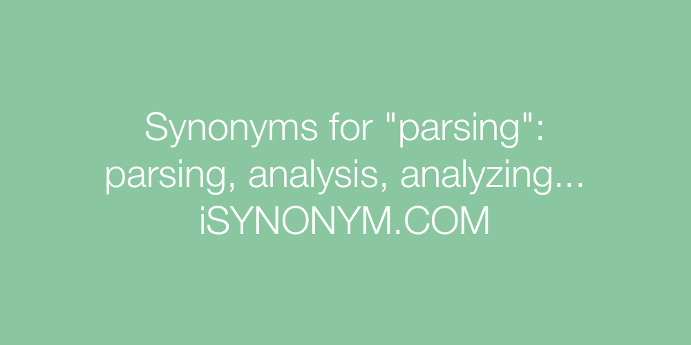Synonyms parsing