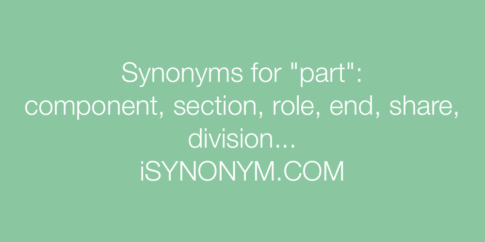 Synonyms part