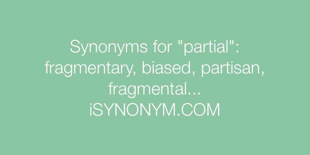 Synonyms partial