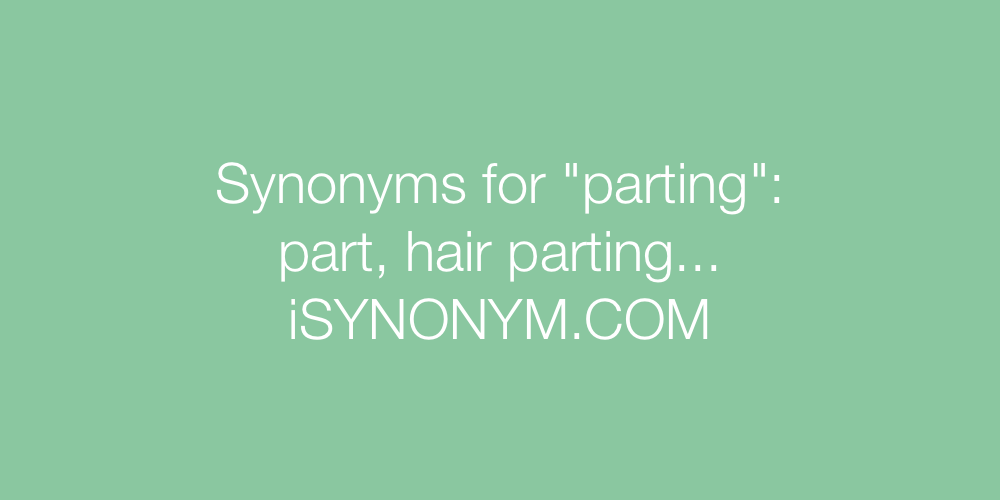 Synonyms parting