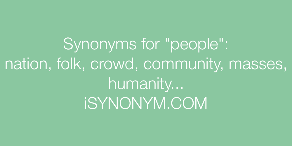 Synonyms people