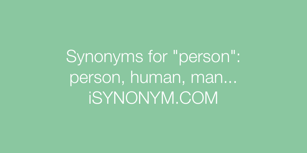 Synonyms person