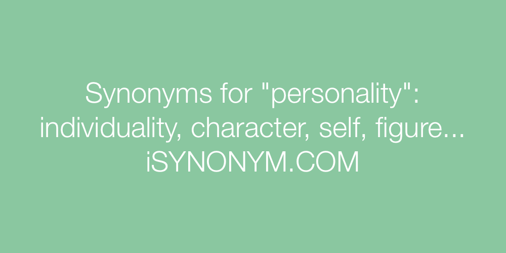 Synonyms personality