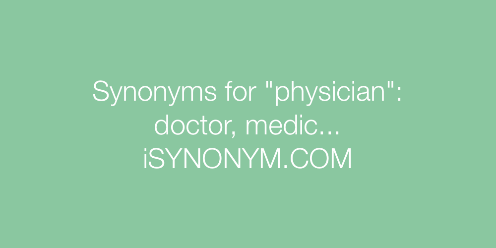Synonyms physician
