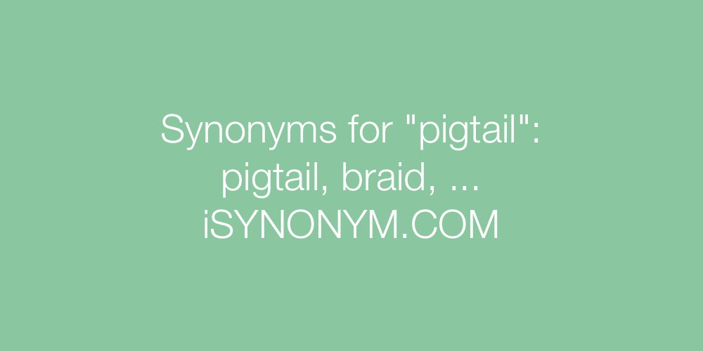 Synonyms pigtail