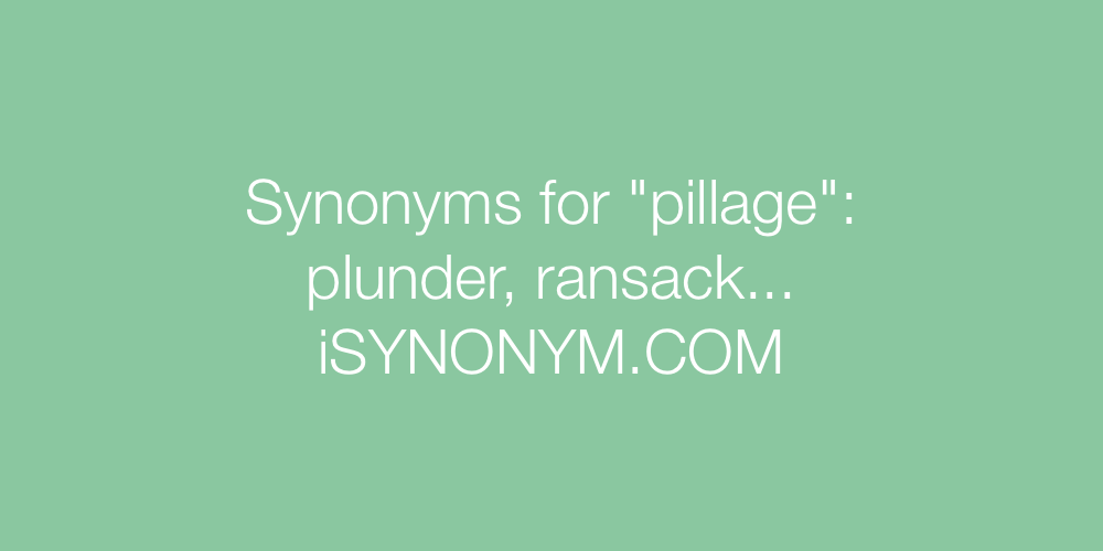 Synonyms pillage