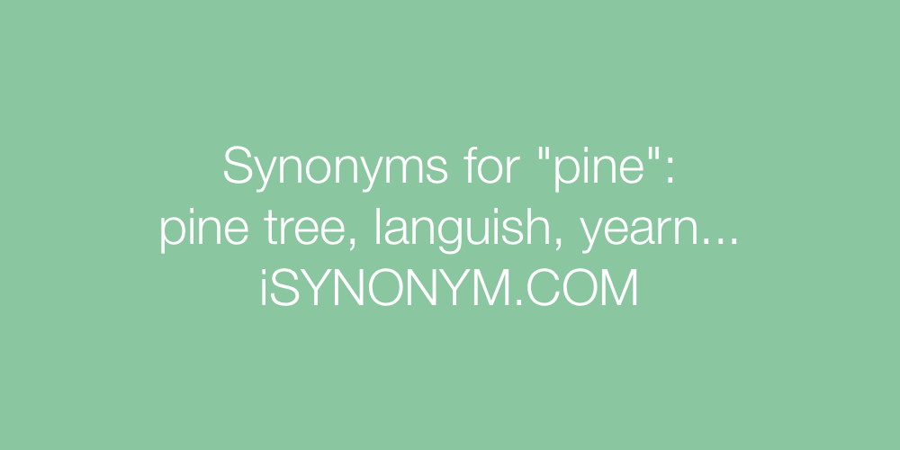 Synonyms pine