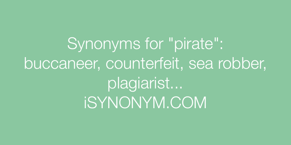Synonyms pirate