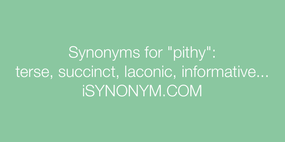 Synonyms pithy