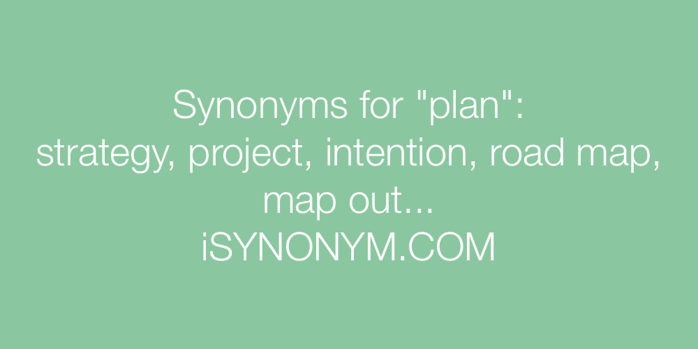 Synonyms plan