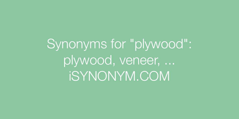 Synonyms plywood