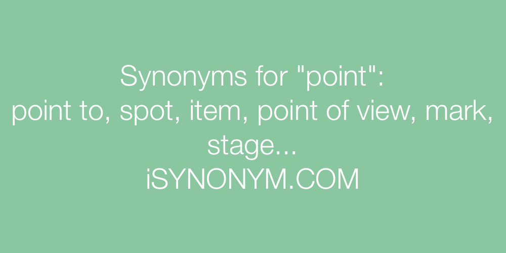 Synonyms point
