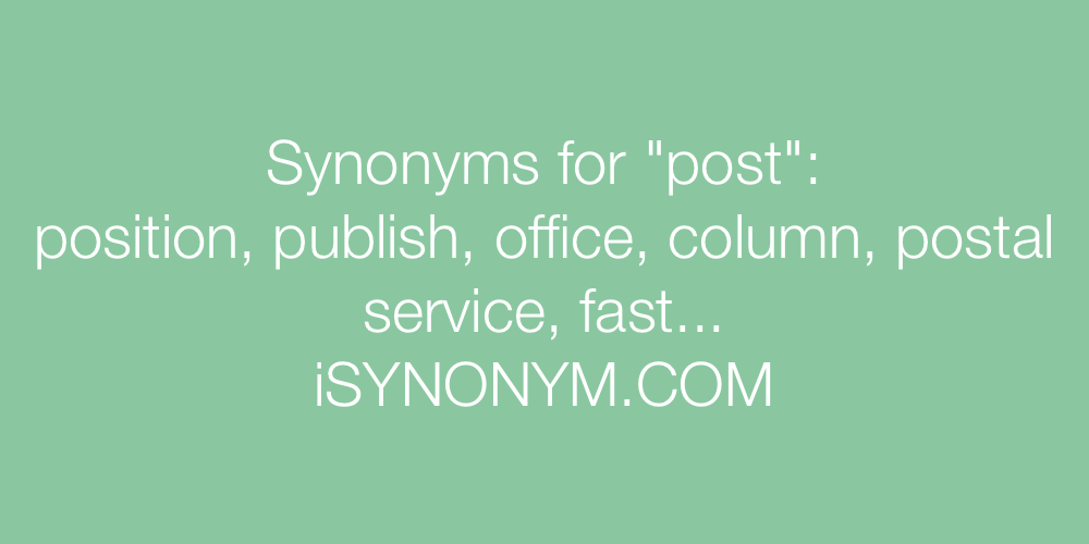 Synonyms post