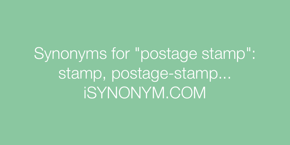 Picture Synonyms Postage Stamp