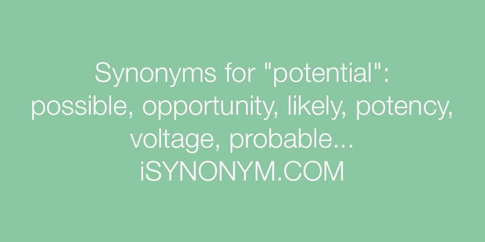 Synonyms potential