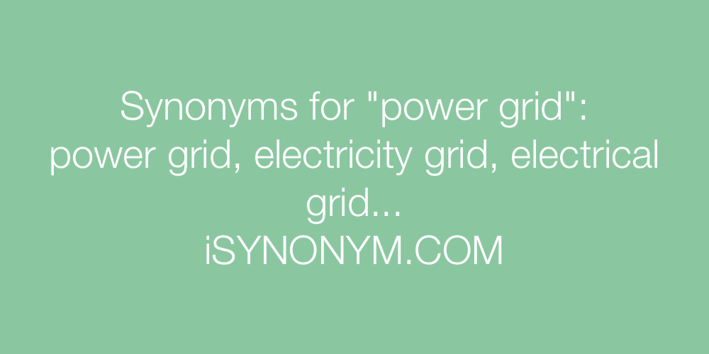 Synonyms power grid
