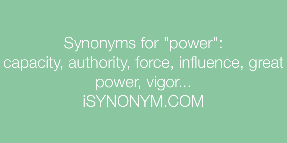 Synonyms power