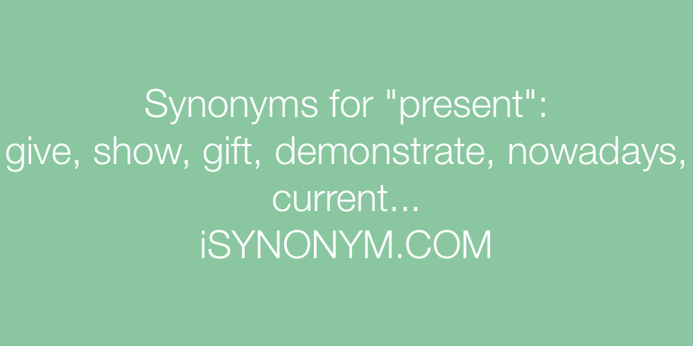 Synonyms present