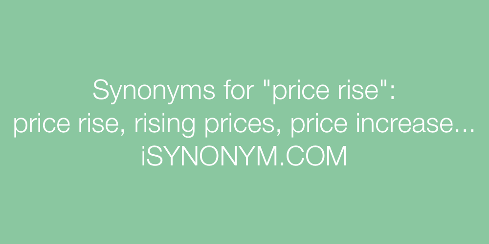Synonyms price rise