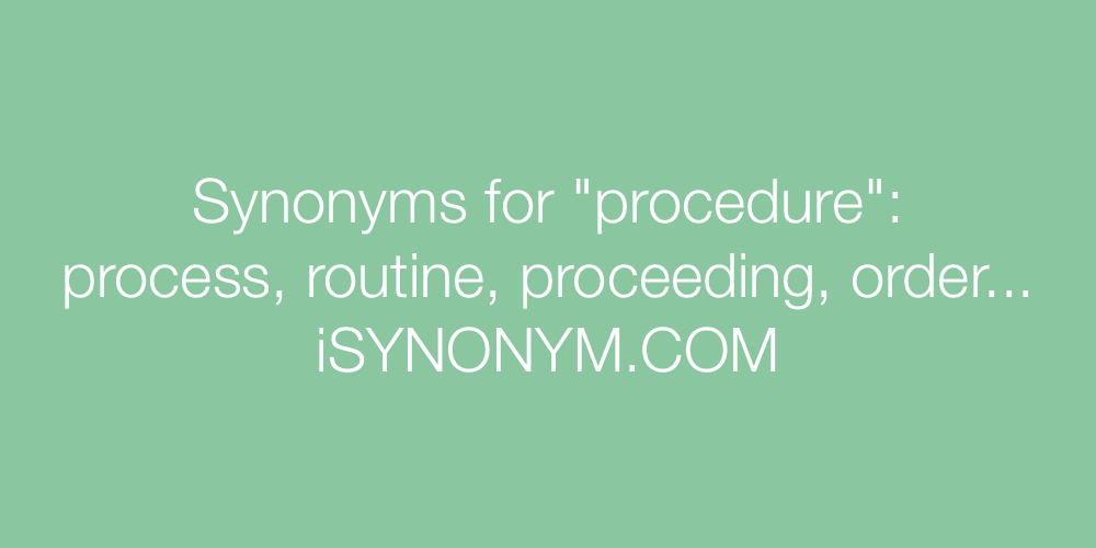 Synonyms procedure