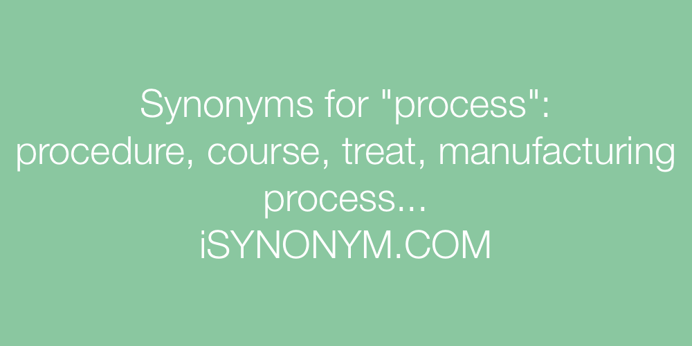 Synonyms process