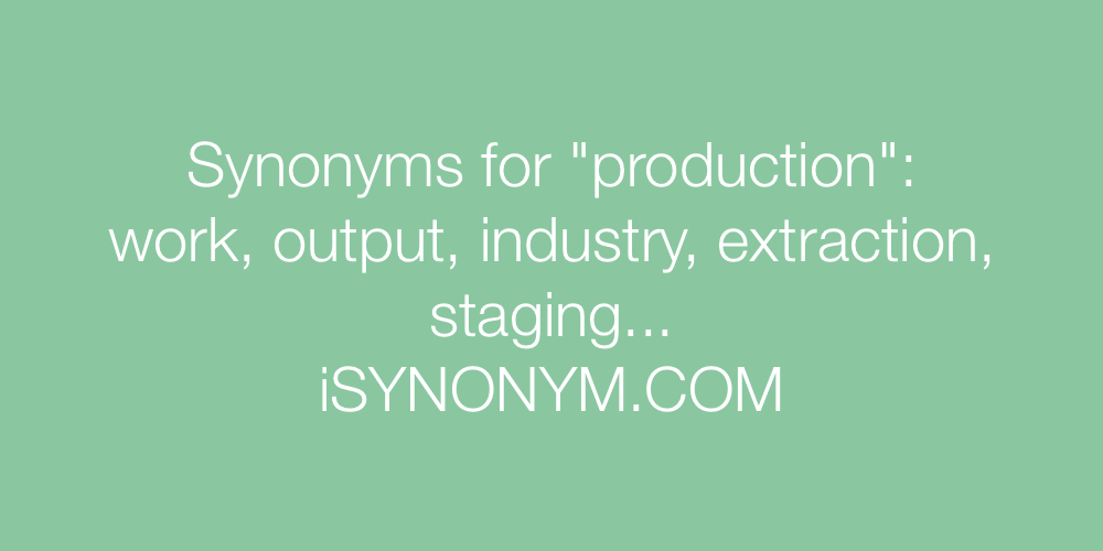 Synonyms production