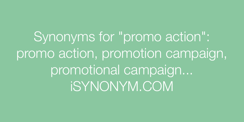 Synonyms promo action