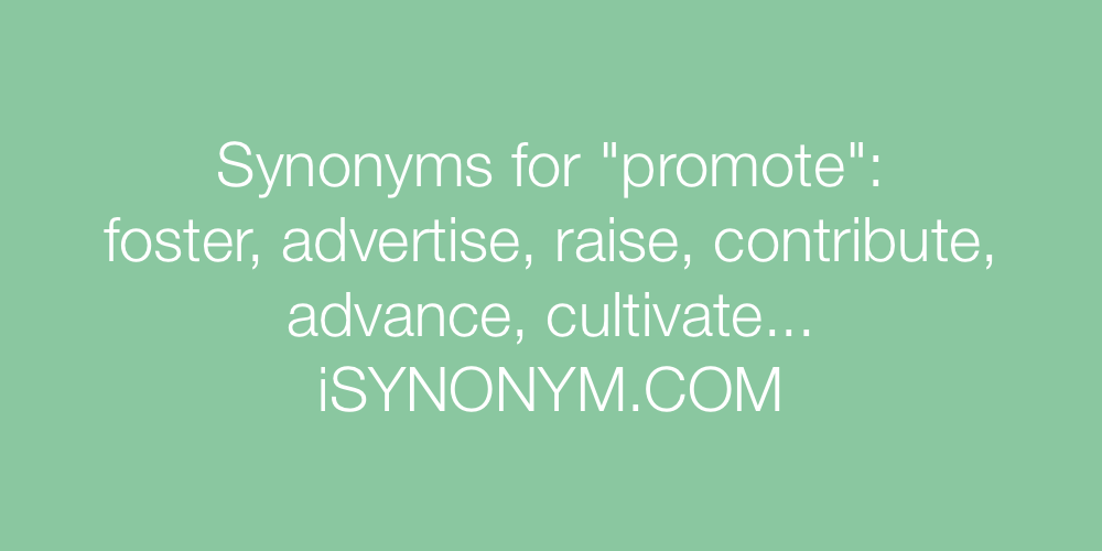 Synonyms promote