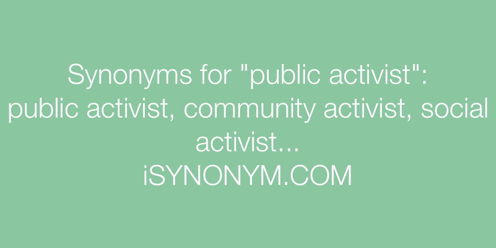 Synonyms public activist