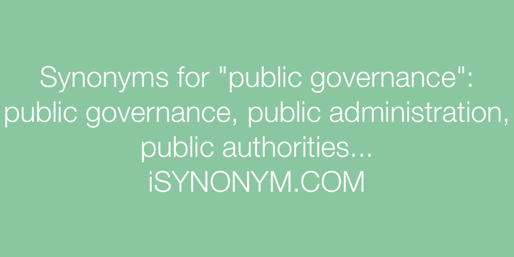 Synonyms public governance