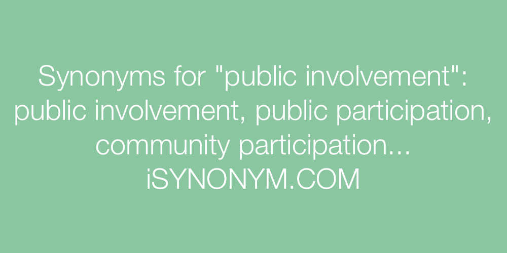 Synonyms public involvement