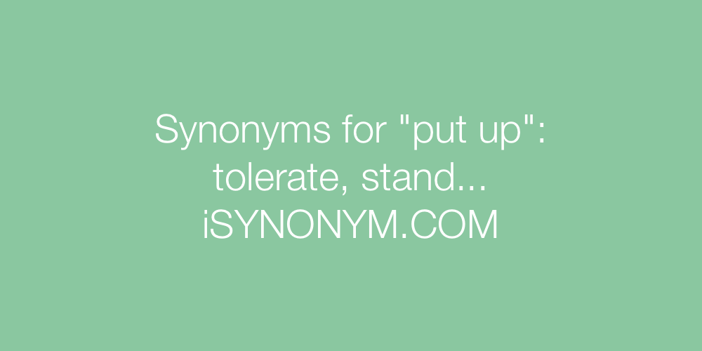 Synonyms put up