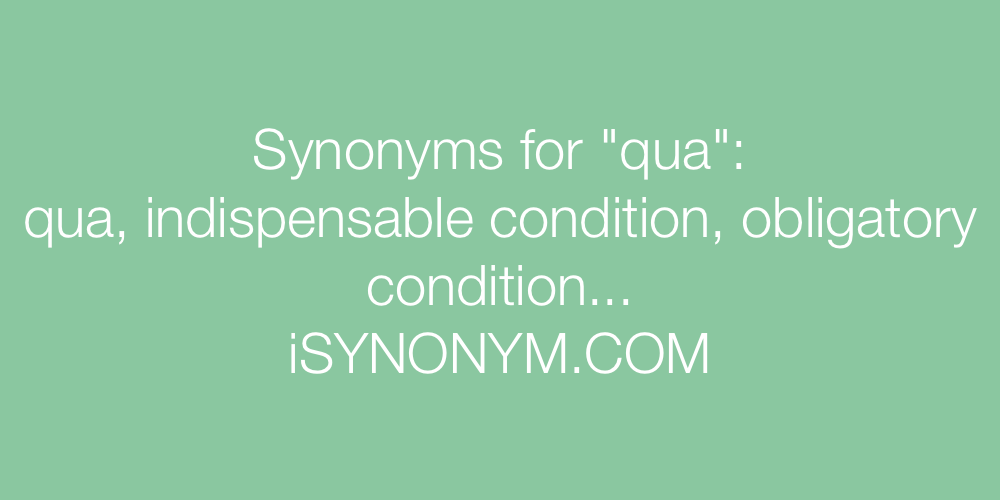 Synonyms qua