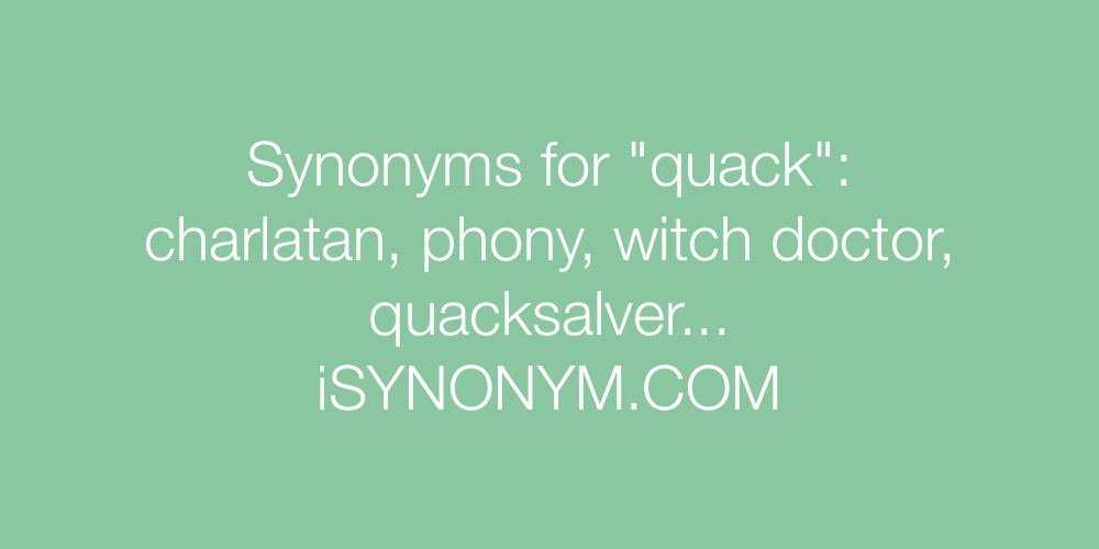 Synonyms quack