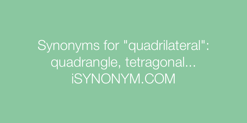 Synonyms quadrilateral