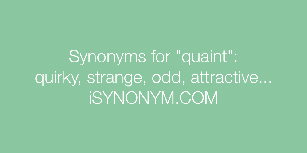 Synonyms quaint