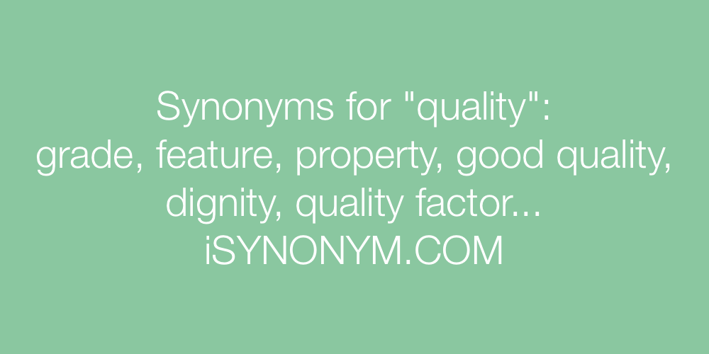 Synonyms quality