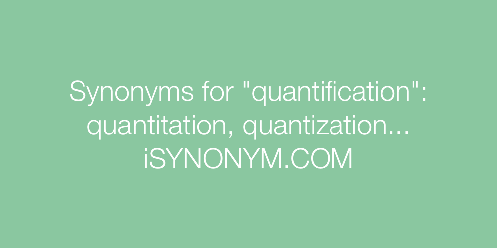 Synonyms quantification