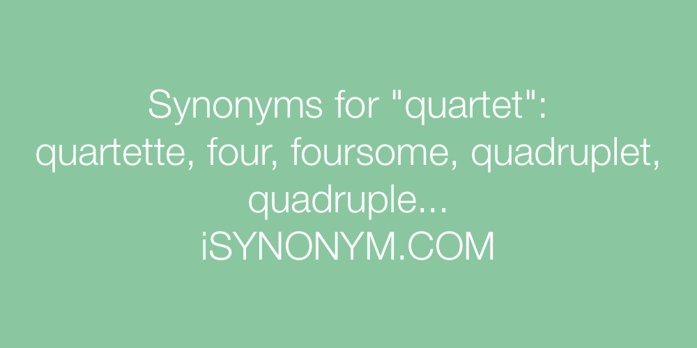 Synonyms quartet