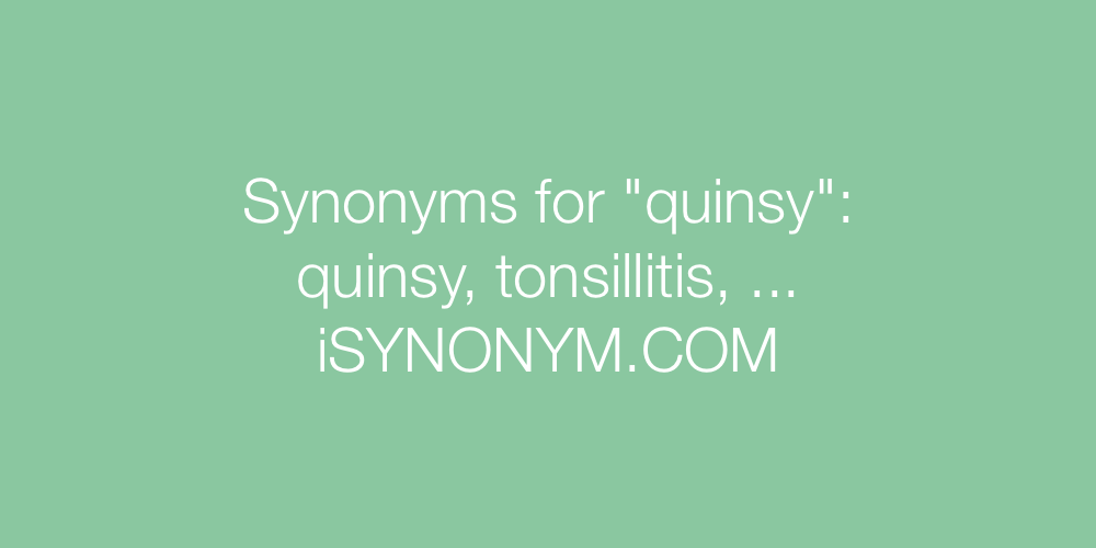 Synonyms quinsy