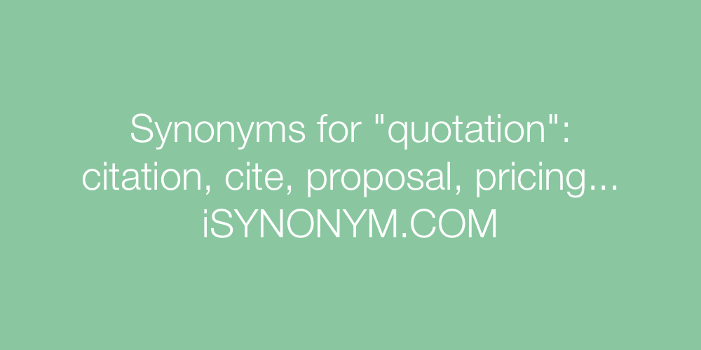 Synonyms quotation