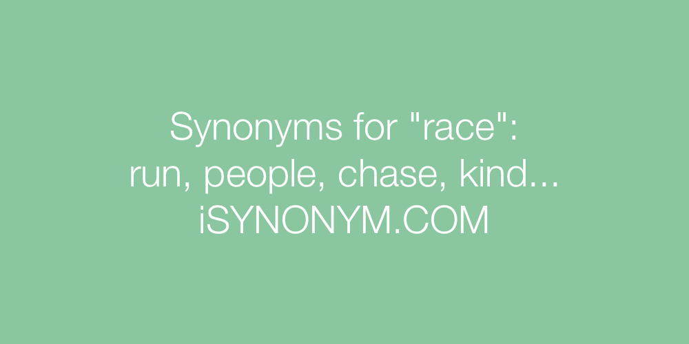 Synonyms race
