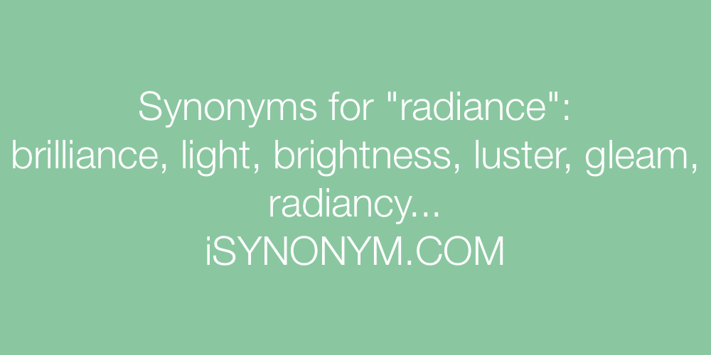 Synonyms radiance