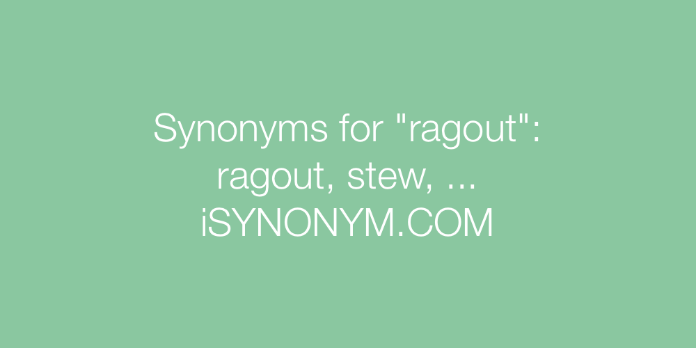 Synonyms ragout